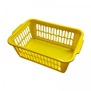 Yellow plastic basket 30x20x11cm