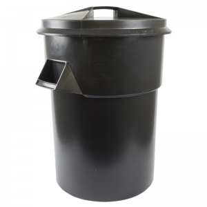Black dustbin tuff - large 94lt, bin & lid set