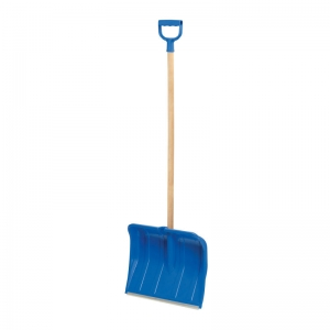 Professional snow shovel with aly tip, 1.4m handle, 49cm w