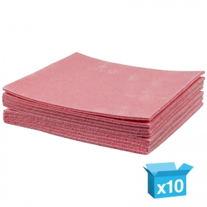 Red sponge cloths