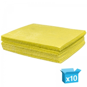 Yellow sponge cloths
