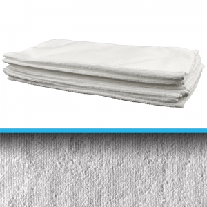 White Microfibre durable cloth 40x40