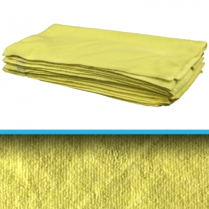 Yellow ProShine Microfibre durable cloth 40x40