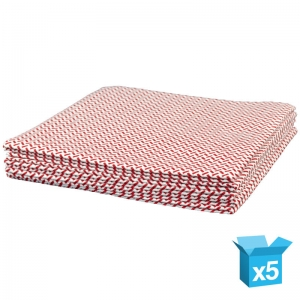 Medium-weight cloth 38x40cm red