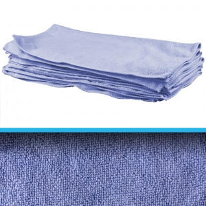 Professional quality microfibre cloth 40x40cm - blue