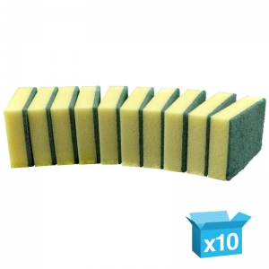 Sponge backed scourers