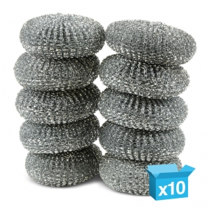 Galvanised pot scourers