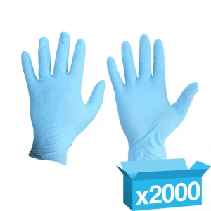 Blue powder free medical grade Nitrile disp gloves Small