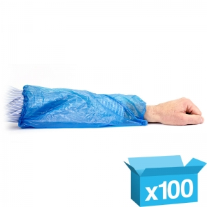 Blue disposable oversleeves