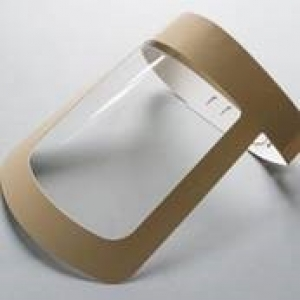 Clear plastic disposable face shield