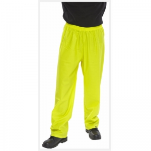 Waterproof breathable trousers yellow L