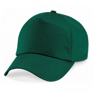 B10 Baseball cap 5 panel bottle green