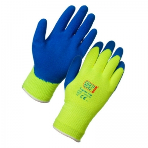 Cold handling fluorescent grip glove Large