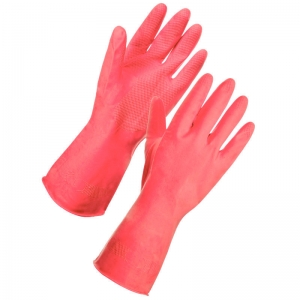 Red premium household gloves Small