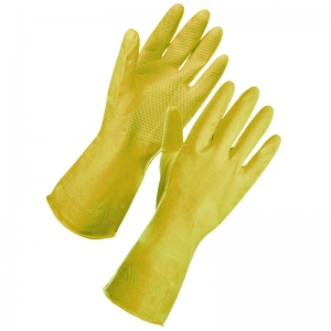 Yellow premium household gloves Small