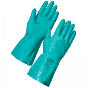 Green Nitrile gloves Small (8)