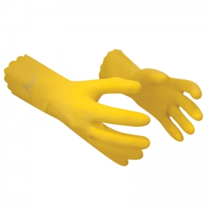 Latex free cleaning glove Yellow Small