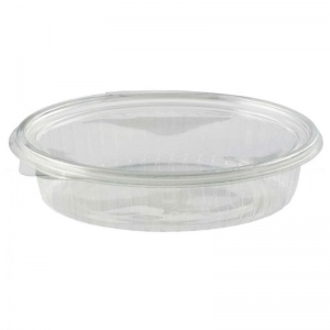 Clear hinged salad straight sided box 750ml oval
