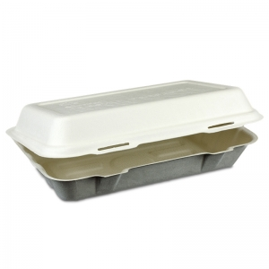 Eco-friendly fibre Fast Food box - biodegradable 235x140x67
