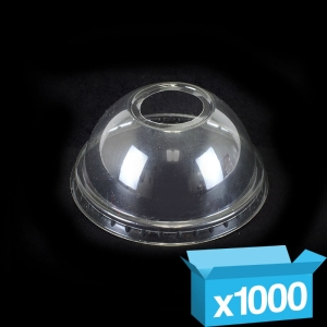 Clear dome lid & hole for 8/10/12oz Clear PET smoothie cups