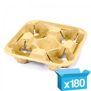 4-cup eggshell carry tray for hot drinks - 180