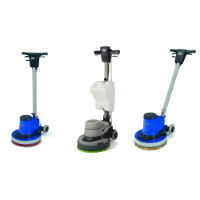 Floor scrubbing and buffing machines